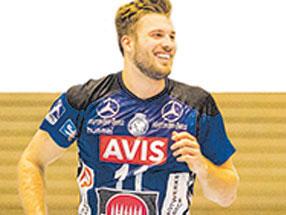 Markus Hansen und sein Knie: Schon im Winter spielte er mit Tapeverband.
