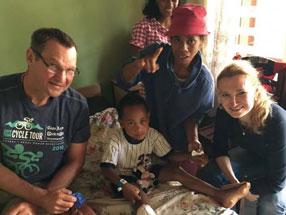 Marc Oldag nach seiner Kreuzband-OP in der Ostseeklinik